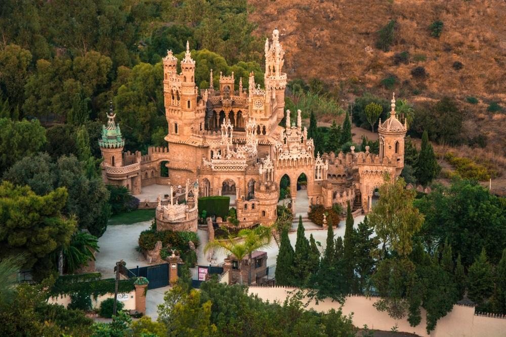 Colomares Castle in Benalmadena, Spanje, Andalusië.Het