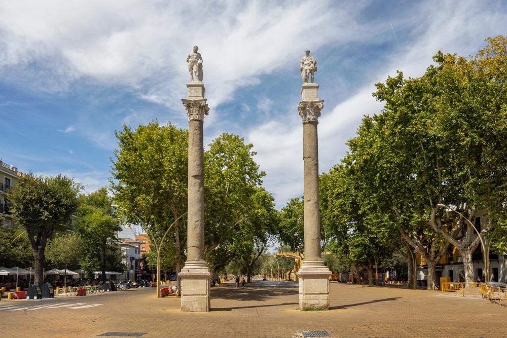 """Party"" gebied Alameda de Hercules in de wijk Feria, Sevilla, Andalusië, Spanje."