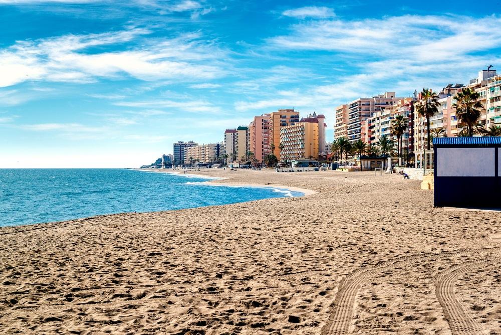 Het strand van Fuengirola, Andalusië, Spanje.