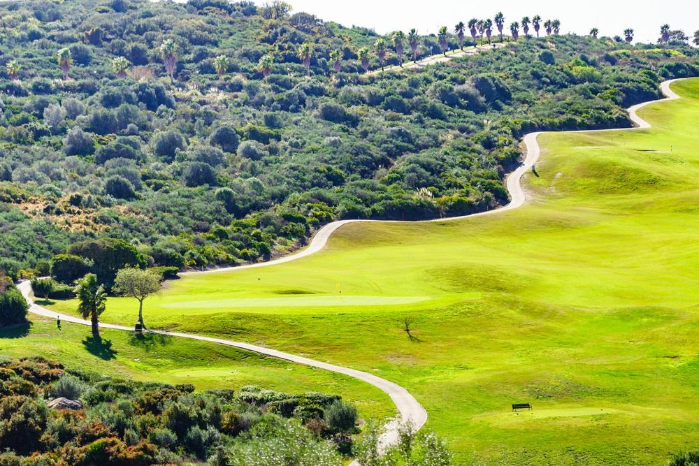 Golfbaan in Marbella, Andalusië, Spanje.