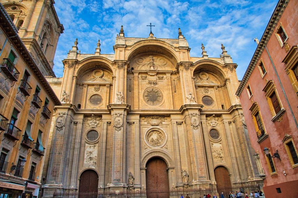 De Kathedraal van Granada in het stadscentrum, Andalusië, Spanje.
