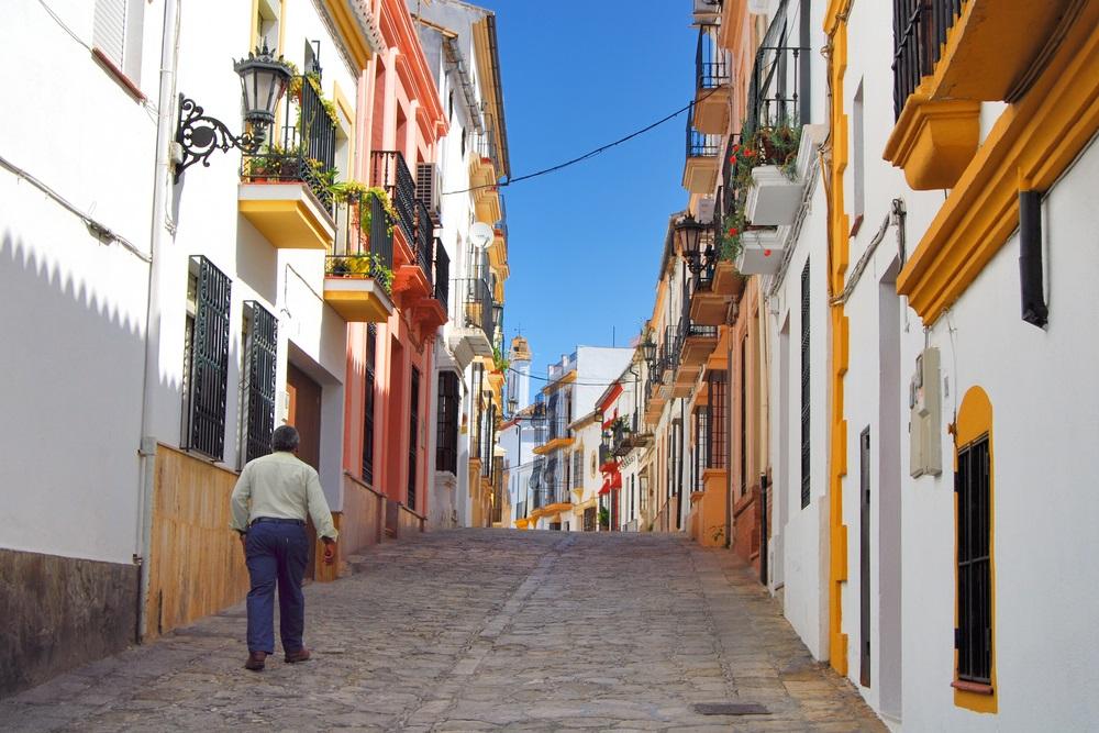 Straten van Ronda, Spaanse Moor-stad - Ronda, Malaga, Andalusië, Spanje.