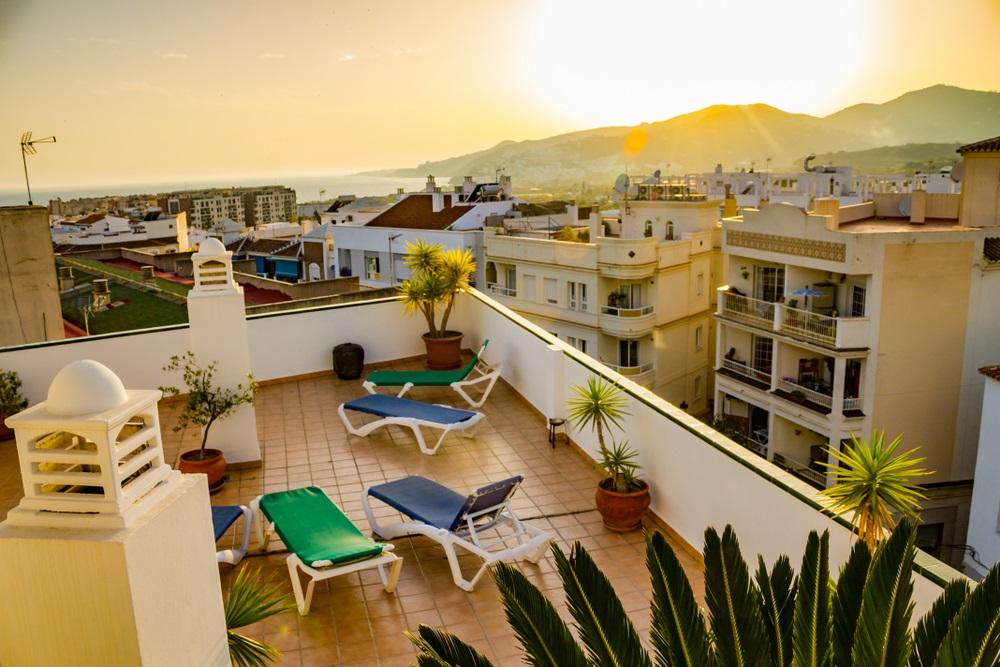 Vakantie appartement in Nerja, Andalusië, met riant dakterras.
