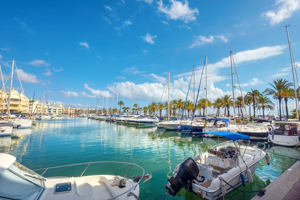 Puerto Marina in Benalmadena. Costa del Sol, Malag, Andalusië, Spanje.