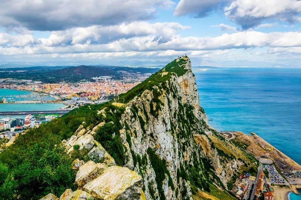 De Upper Rock van Gibraltar, Spanje, Andalusië.