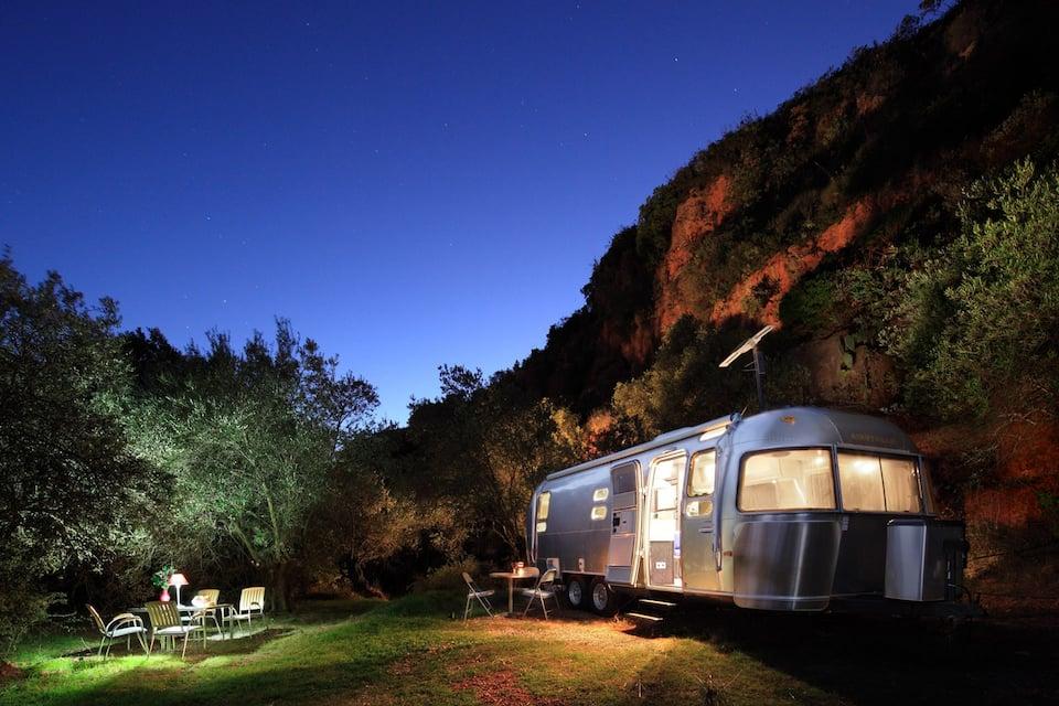 Glamping Airstream, Sierra de las Nieves. Bijzondere accommodaties in Andalusië, Spanje.