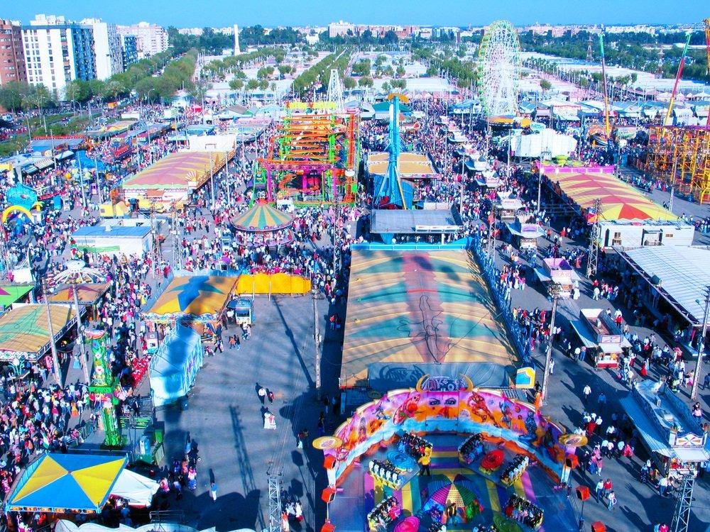 Het grootse Feria de Abril in Sevilla, Andalusië, Spanje.