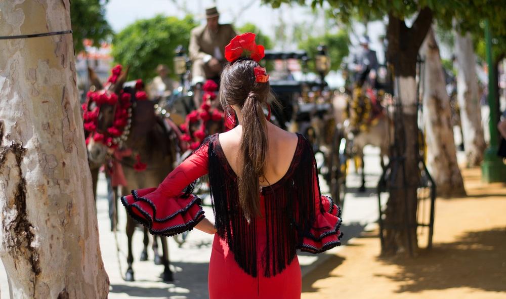 Het bruisende Flamenco festival in Jerez de la Frontera, Spanje, Andalusië.