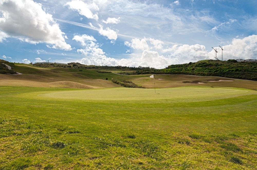 Golfbaan in Mijas, Andalusië, Spanje.