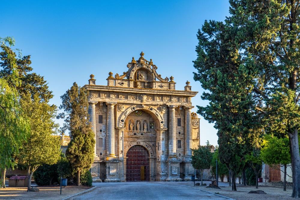 Het Monasterio de la Cartuja de Santa Maria van Jerez de la Frontera in Andalusië, Spanje.