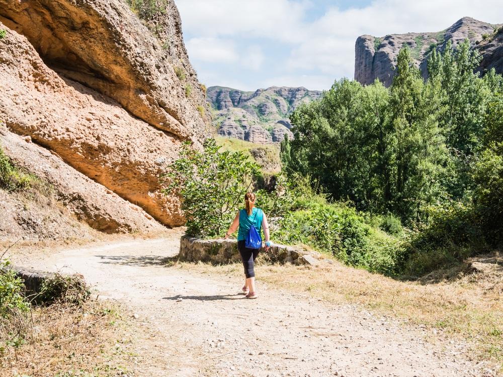 Wandelen in de omliggende bergen van de Costa del Sol. Andalusië, Spanje.
