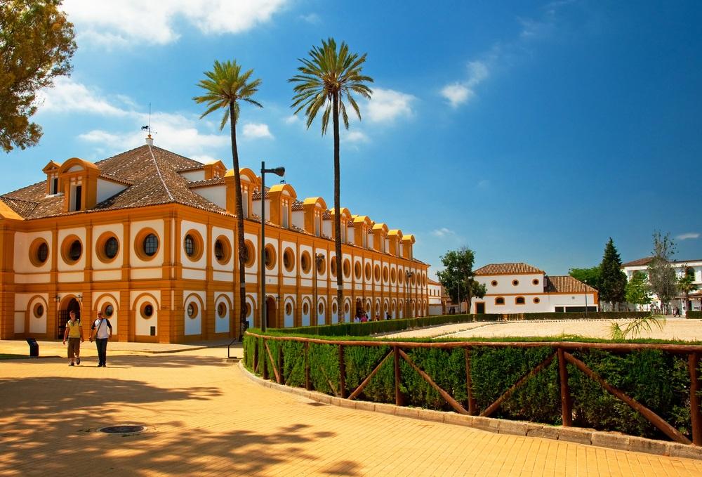 De Koninklijke Andalusische School voor Ruiterkunst. Jerez de la Frontera, Spanje.