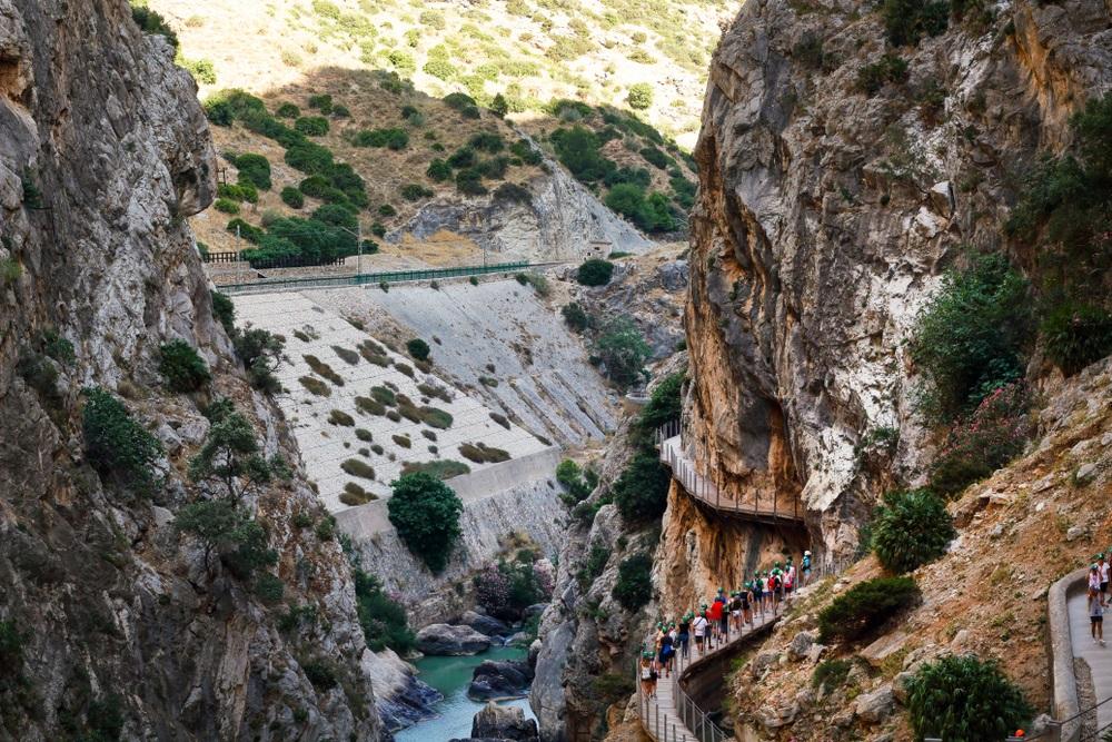 Caminito del Rey, Spanje, Andalusië.