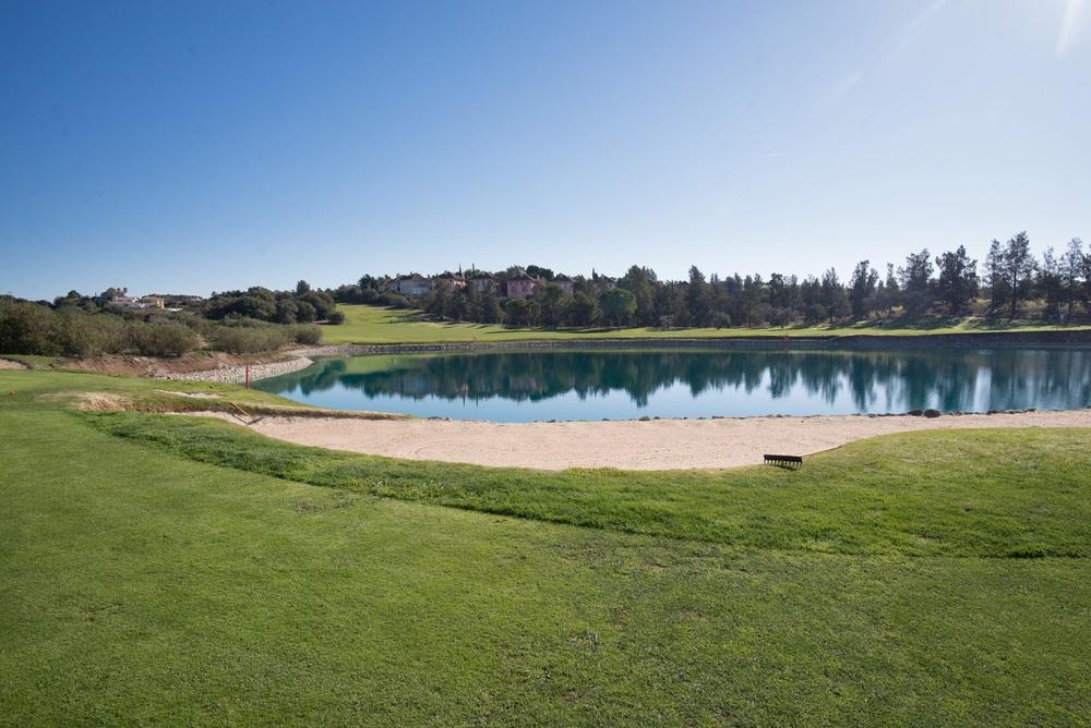 Golfbaanlandschap in Cadiz, Andalusië, Spanje.