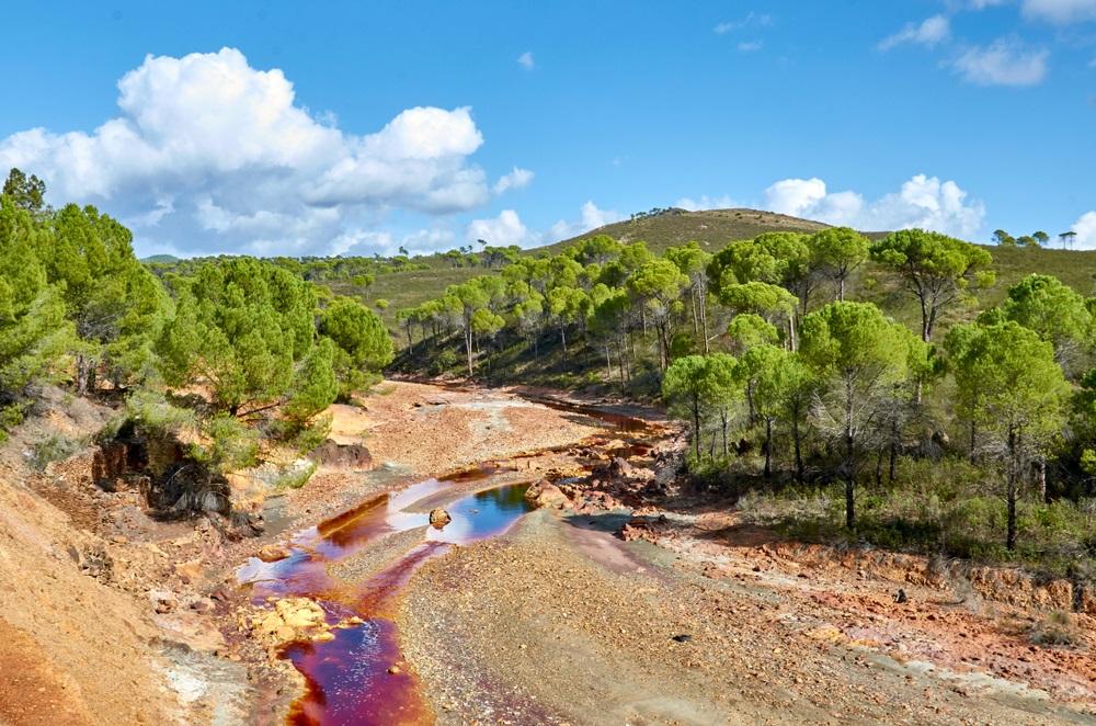 Rio Tinto Mining Park in Huelva. Themaparen in Andalusië, Spanje.