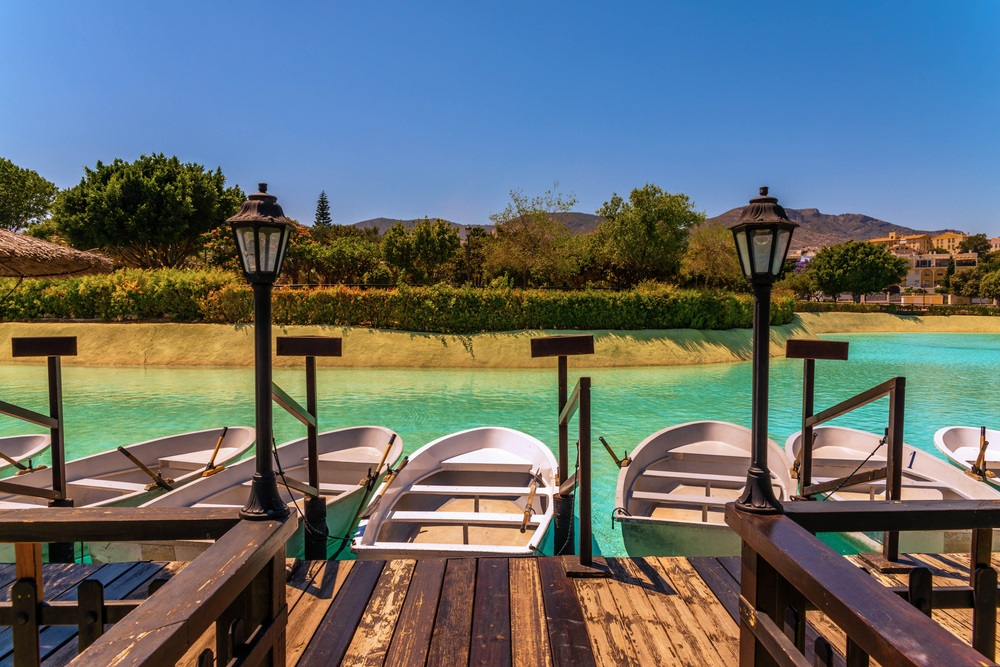 Parque de la Bateria. Torremolinos, Andalusië, Spanje.